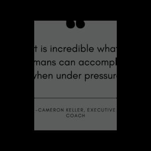 huamns accomplish under pressure